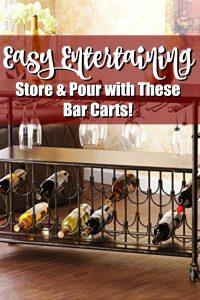 Bar Cart with Wine Rack