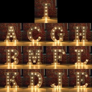individual light up marquee letters