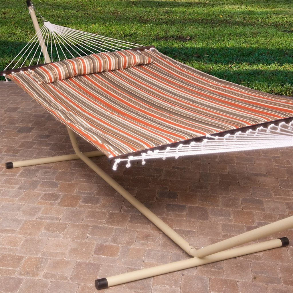Two person portable hammock with stand