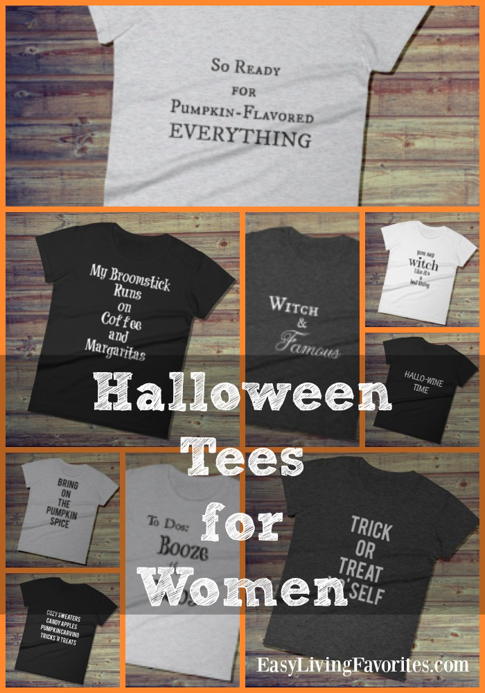 Funny Halloween T-shirts for Women Collage - Pin Me!