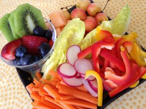 Fruits and veggies make great foods for dipping at lunchtime