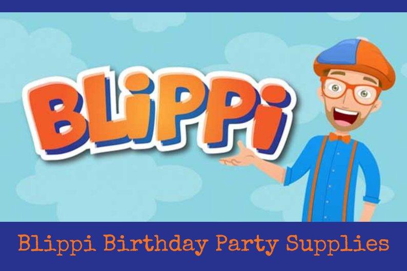 Blippi Birthday Party Supplies